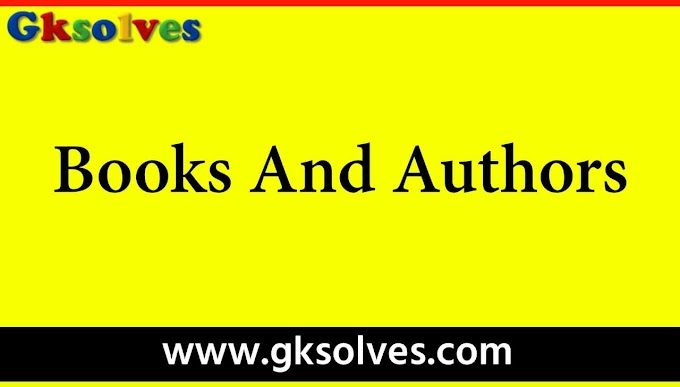 Books And Authors Pdf in English - RRB NTPC, Group-D, SSC, WBCS, UPSC