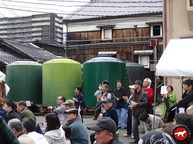 Les réserve de saké de Matsumoto à Fushimi