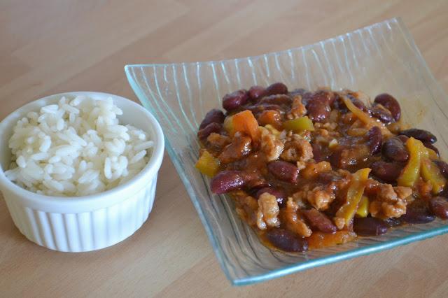 Chili sin carne, chili sans viande, végétarien