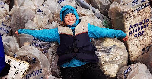 Fra den første ryddeaksjonen, over 700 kilo med søppel Foto: Mari Smith