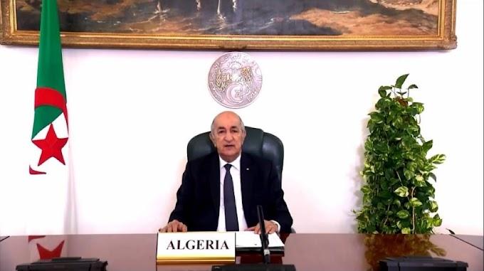 الرئيس الجزائري يدعو الأمم المتحدة إلى التعجيل بإجراء إستفتاء تقرير المصير في الصحراء الغربية.