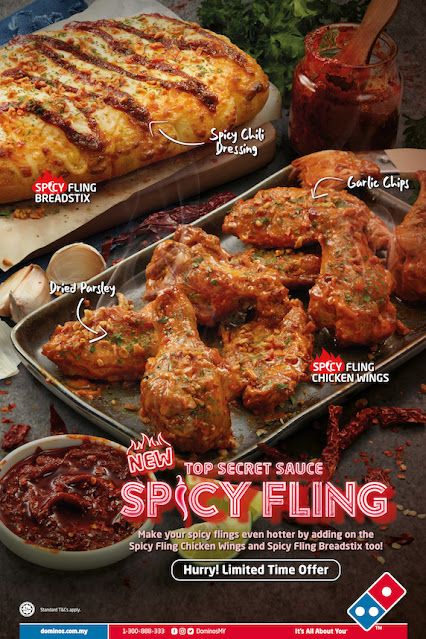 DOMINO'S PIZZA Launches Top Secret Sauce Spicy Fling Pizzas with Spicy Crunchy Twist