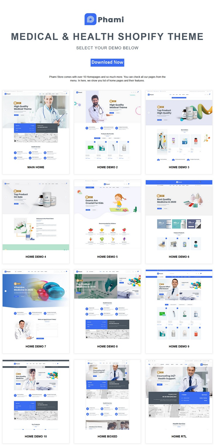 Medical and Health Shopify Theme