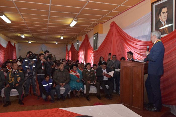 vicepresidente exhortó a las autoridades y habitantes de Villazón a diversificar su economía para no depender solo del comercio