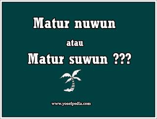 atur nuwun, Bahasa Jawanya Terimakasih Yang Sering Kali Salah Dalam Pengucapan