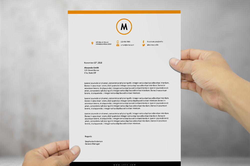 free modern letterhead template for ms word