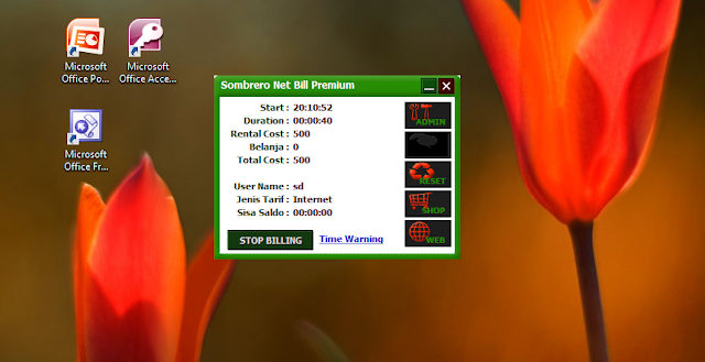 Screenshot Client Sombrero Net Bill Premium R4