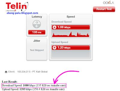 mengetahui kecepatan download