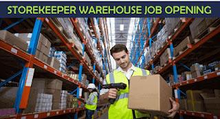 Storekeeper Job Recruitment For Warehouse in Dubai Location | Salary AED 5001-7000