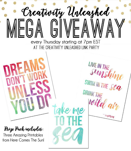 Creativity Unleashed #136 and Beautiful Printables Giveaway at MyLove2Create
