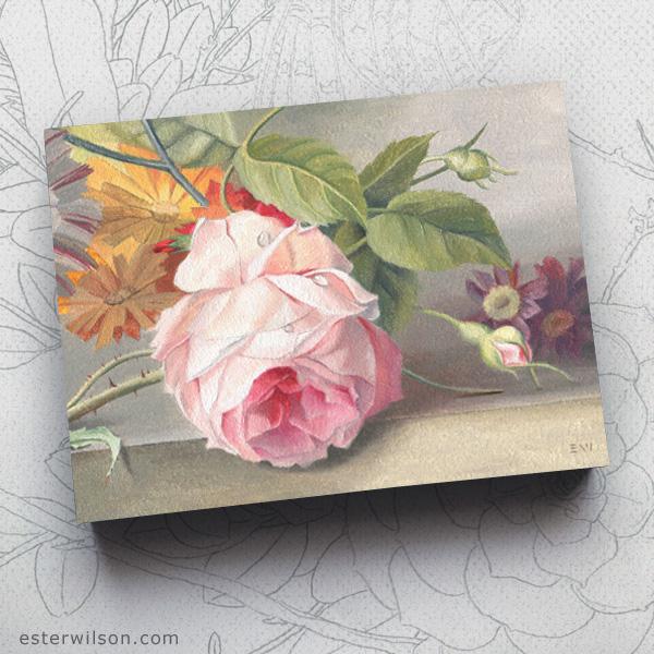 """""""Master Garden"""", oil painting on 8"""" x 6"""" panel"""