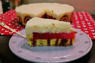 Tort z musem arbuzowym