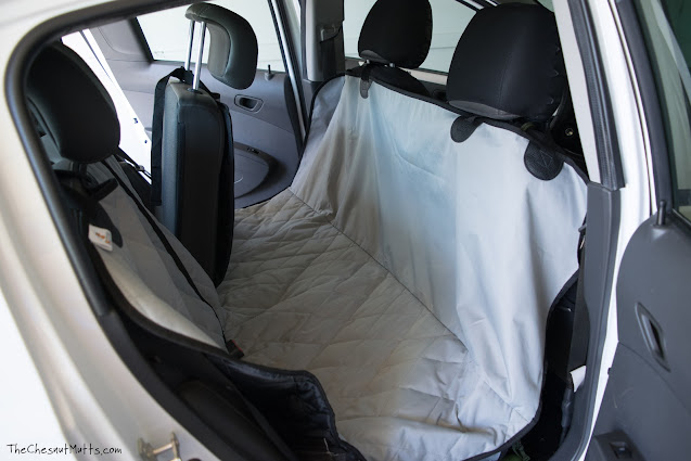 4Knines split rear seat cover for compact cars