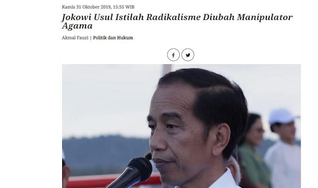 Siapakah Manipulator Agama? Jokowi Usul Istilah Radikalisme Diubah Manipulator Agama