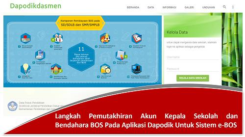 Langkah Pemutakhiran Akun Kepala Sekolah dan Bendahara BOS Pada Aplikasi Dapodik Untuk Sistem e-BOS