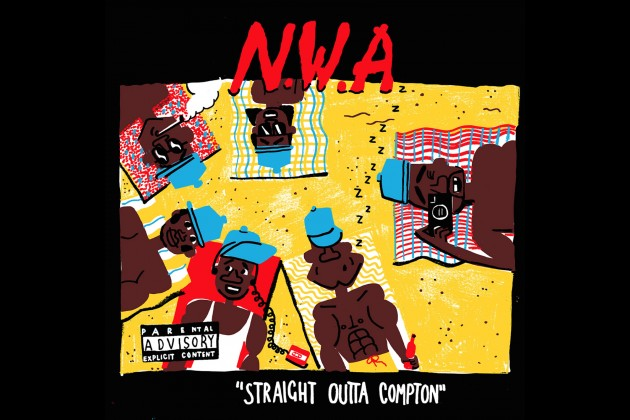 N W A's 'Straight Outta Compton' Album Cover Gets an Artsy
