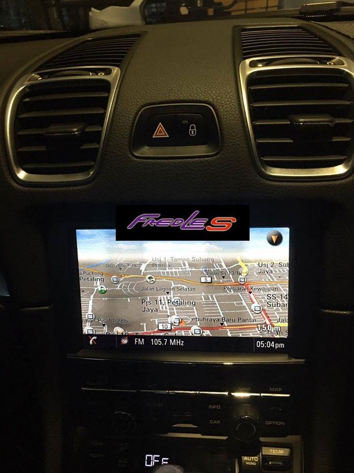 Porsche Cayman 981 Navigatin Update & 981 S Exhaust tips   FREDLES