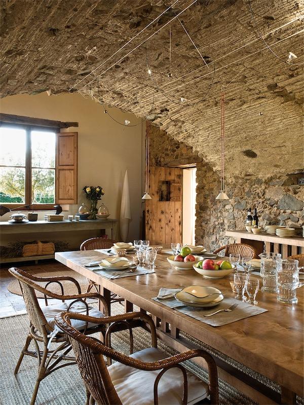 cocina rustica con techo abovedado de pieda chicanddeco