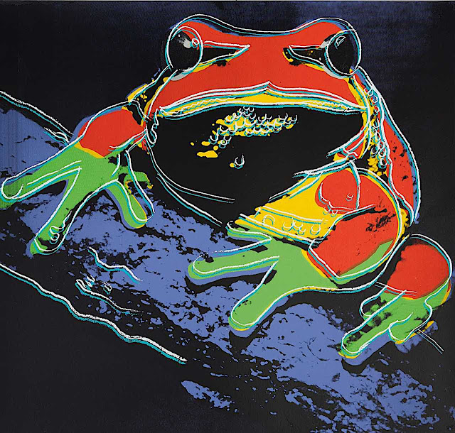 Andy Warhol 1983, a frog or toad