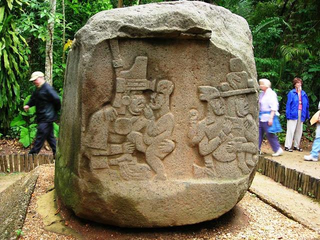 Altar 5, Olmec sculpture, La Venta Museum, Villahermos