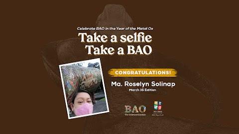 """March 16 Winner """"Take a Selfie, Take a BAO"""""""