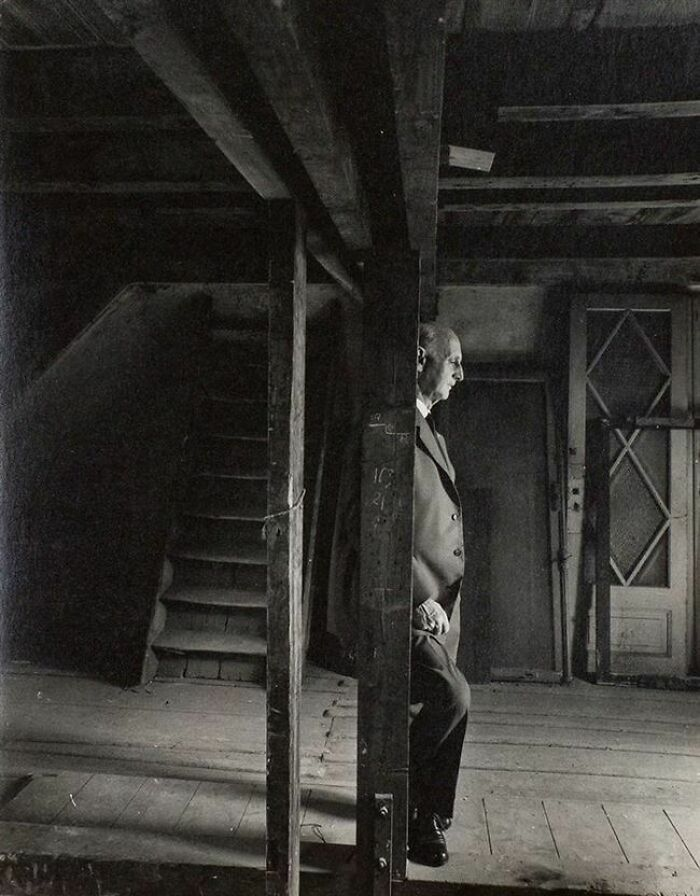 #14 Anne Frank's Father Otto, Revisiting The Attic Where They Hid From The Nazis. He Was The Only Surviving Family Member (1960)