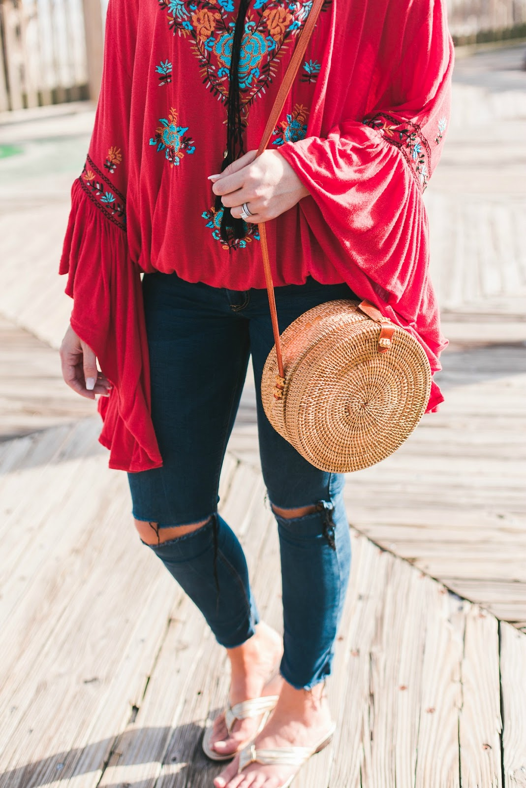 free people outfit, straw crossbody bag, round straw crossbody, celine sunglasses, celine tilda, nc photographer, greensboro photographer, nc blogger, xo samantha brooke, samantha brooke, sam brooke photo, samantha brooke photography, life and messy hair