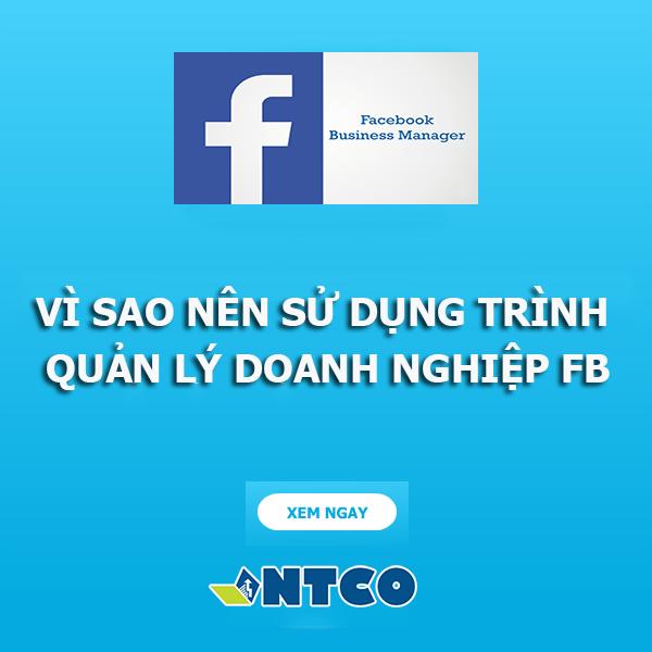trinh quan ly doanh nghiep facebook
