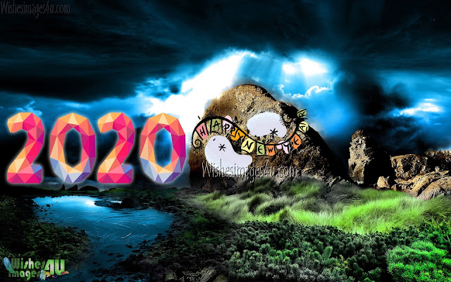 Happy New year 2020 1080p Nature Background Images