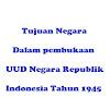 Sebutkan tujuan negara dalam pembukaan Undang – Undang Dasar  1945