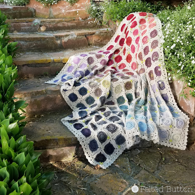 Sweven Throw crochet pattern by Susan Carlson of Felted Button