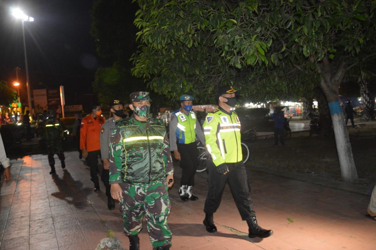Cegah Penyebaran Virus Corona, Kodim Ponorogo Laksanakan Patroli Gabungan Skala Besar Bersama Unsur Terkait