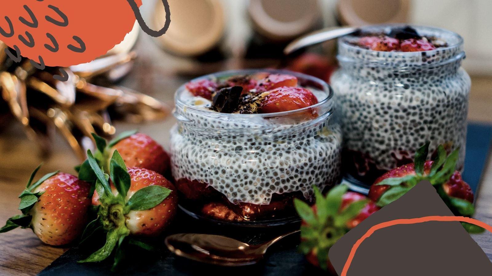 10 jak zrobić zdrowy i szybki deser z nasionami chia pudding chia przepis jak przygotować z truskawkami, pomysł na łatwy deser na sniadanie how make easy health pudding chia receipes