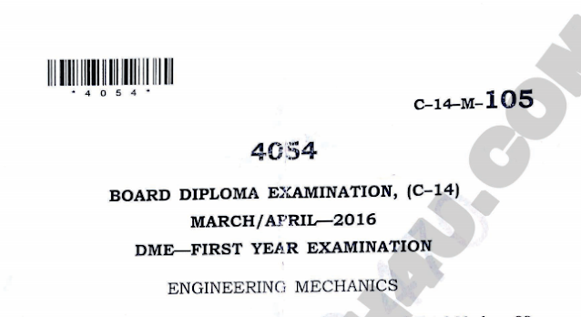 Diploma old engineering question paper march/april 2016 c14