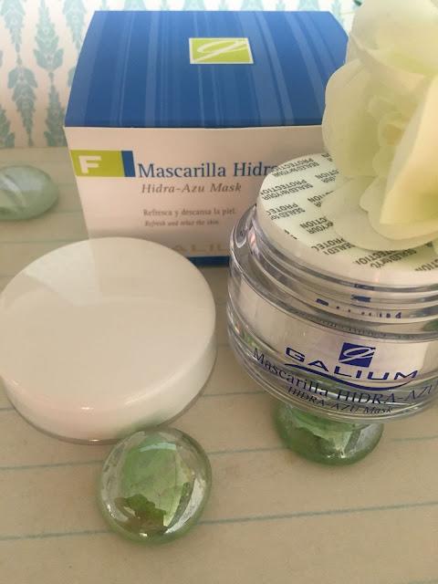mascarilla hidra azu, mascarilla facial, mascara, mascarilla, galium cosmética integral, hidra-azu mask, mask, pieles sensibles, pieles reactivas, guaiazuleno,