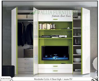 lemari pakaian minimalis tv unit Celtic