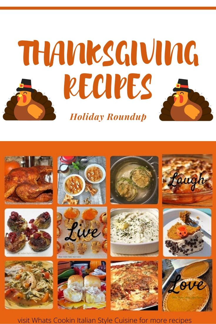 thanksgiving day recipe roundup pin for later