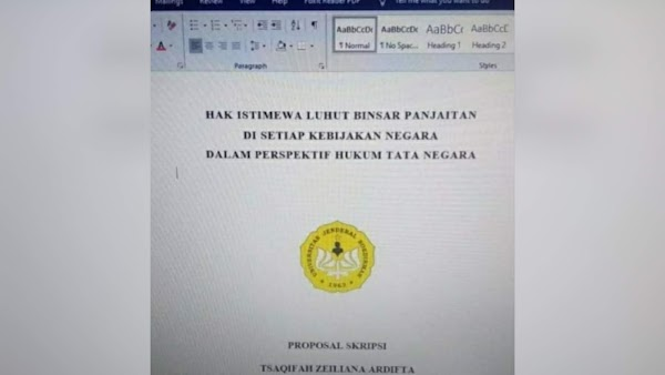 Penjelasan Unsoed soal Proposal Skripsi Viral 'Hak Istimewa Luhut Pandjaitan'