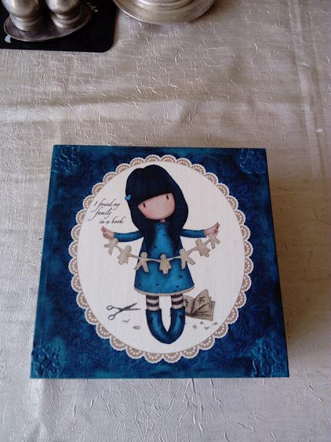 Inspiracje ze świata sztuki – turkusowe pudełko z dziewczynką :)