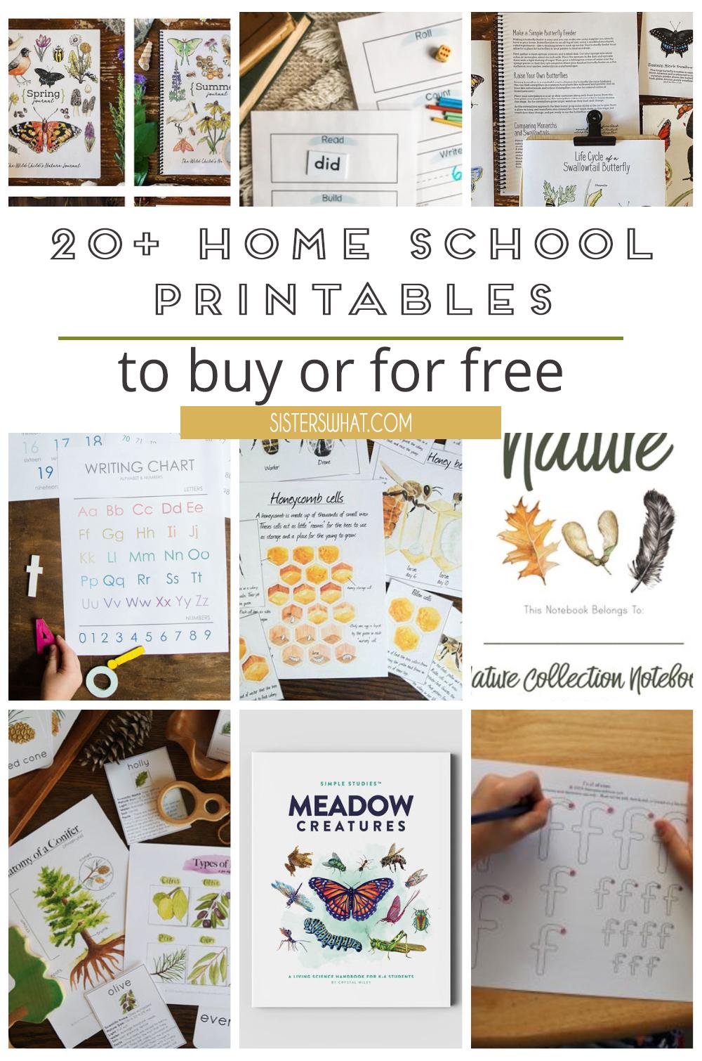 homeschool printables for nature study