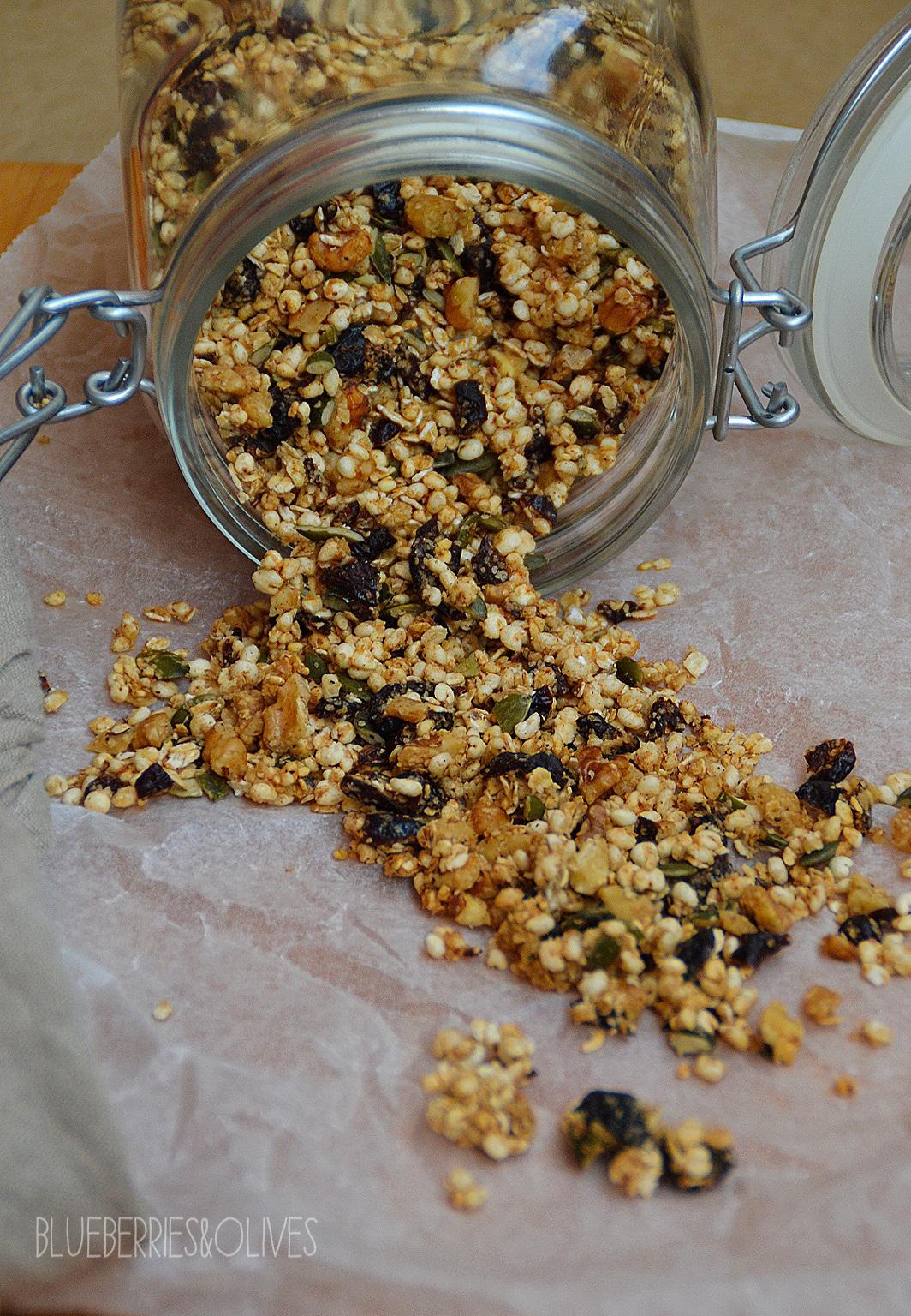 Muesli casero con arándanos rojos, nueces y sirope de arce - 2
