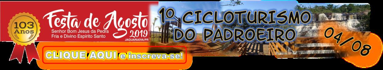Banner Inscrições para o 1º Cicloturismo do Padroeiro