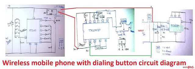 wireless mobile phone with dialing number circuit diagram