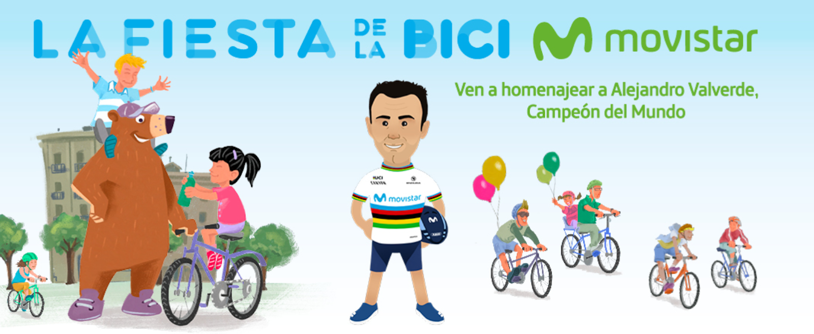 Fiesta Bicicleta Movistar Madrid