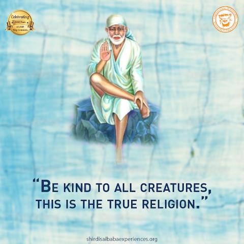 Be Kind - Sai Baba Sititng On Stone Painting Image