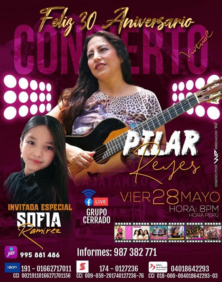 Pilar Reyes en concierto