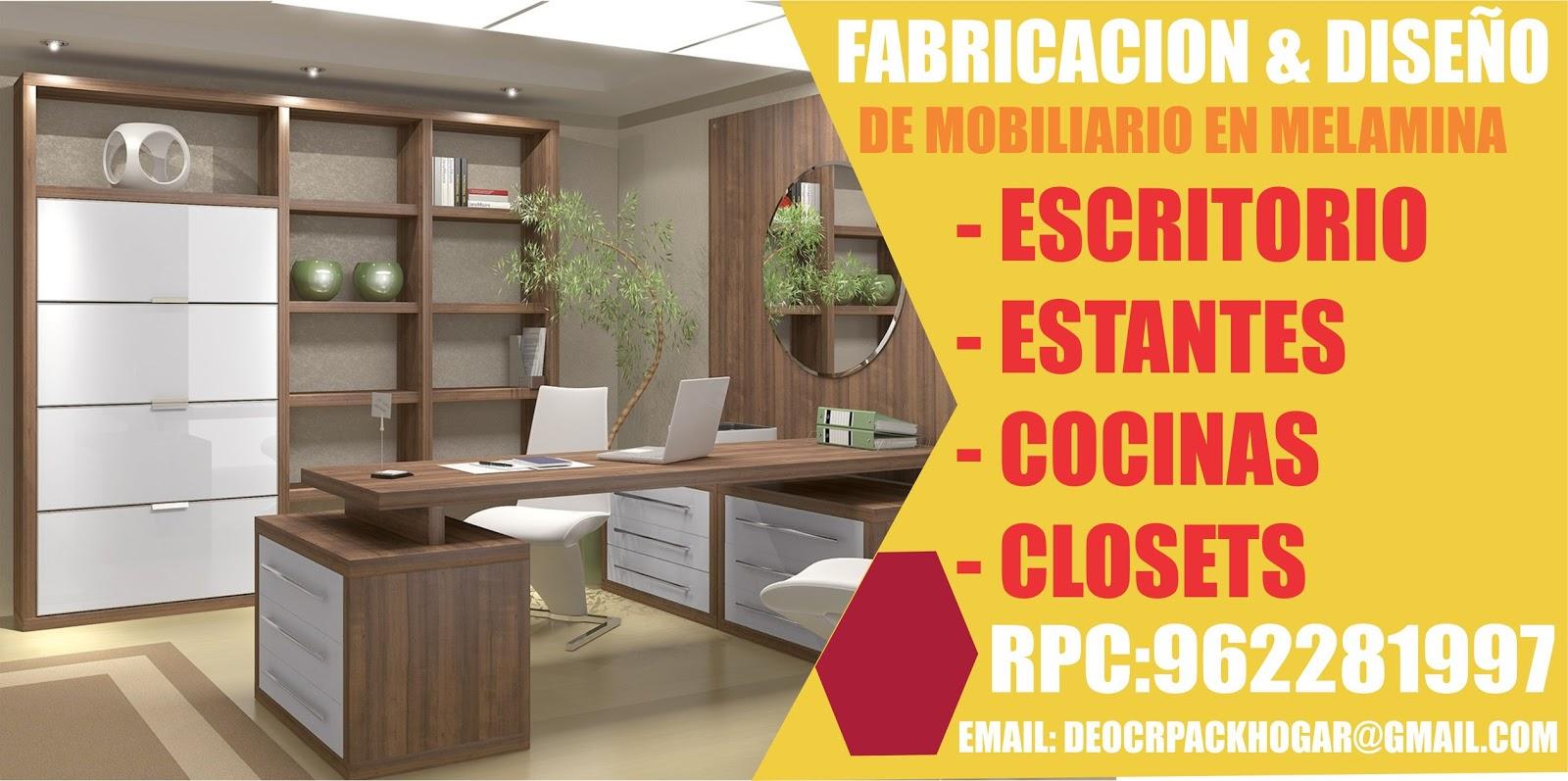 Dise os fabricacion de closet cocina y muebles de oficina for Escritorios de oficina lima