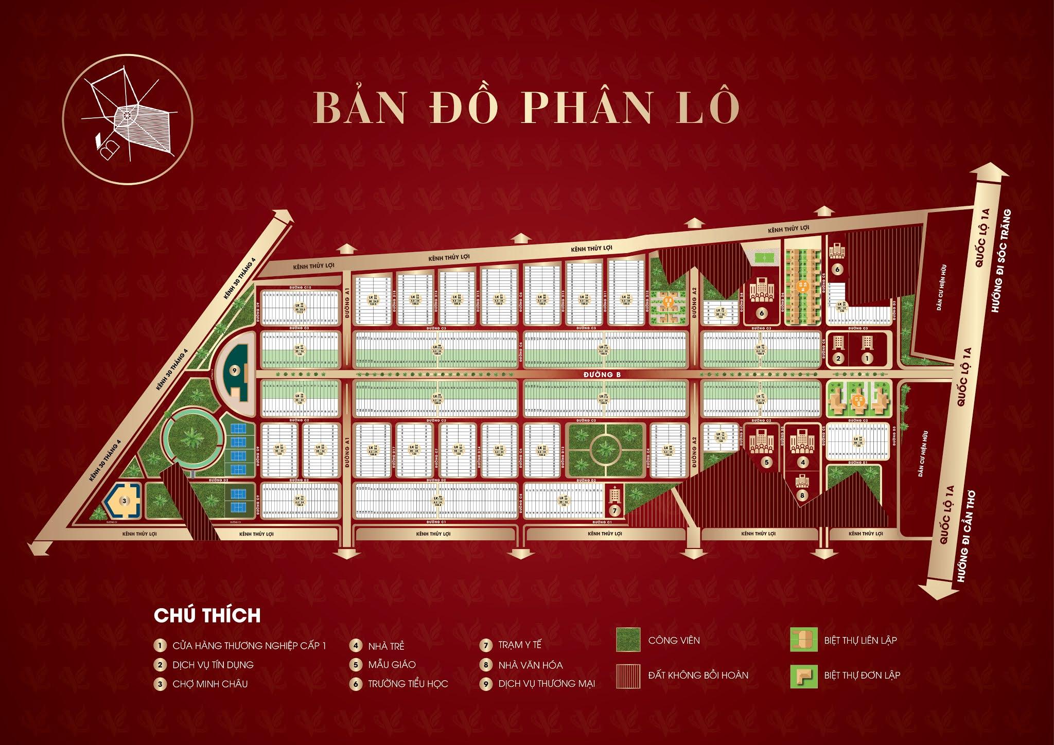 Bản đồ phân lô Vạn Phát Avenue