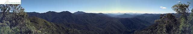 Vista do mirante no Morro do Sapo
