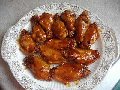 Bourbon Chicken Wings (ketchup, brown sugar, ginger, garlic